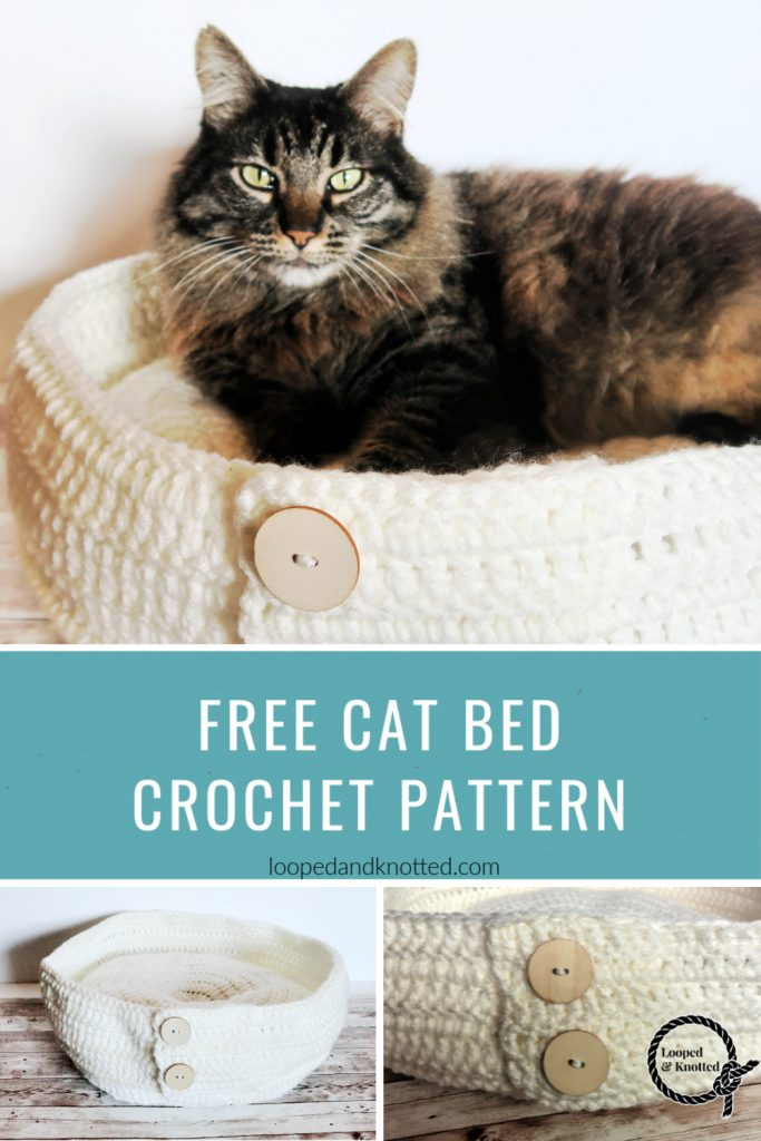 10 Awesome Crochet Cat Bed - Free Patterns - DIY 4 EVER | 1024x683